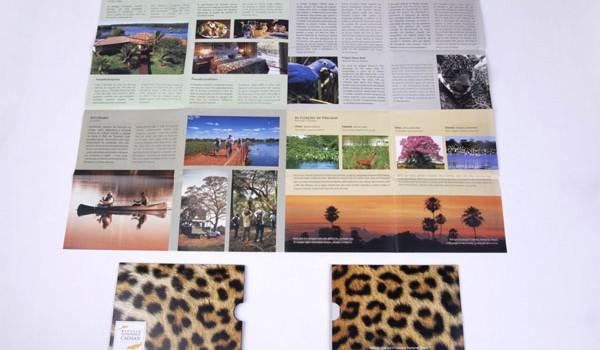 Folder institucional do Refúgio Ecológico Caiman