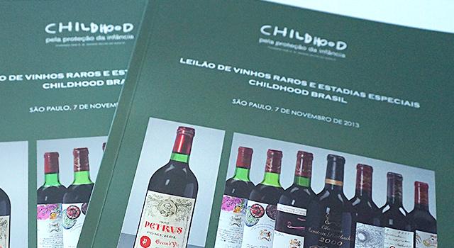Catálogo <br /> do Leilão de Vinhos <br /> Childhood