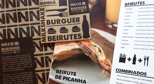 Criação de Marca e Comunicação <br /> Neco Burguer Hamburgueria & Café
