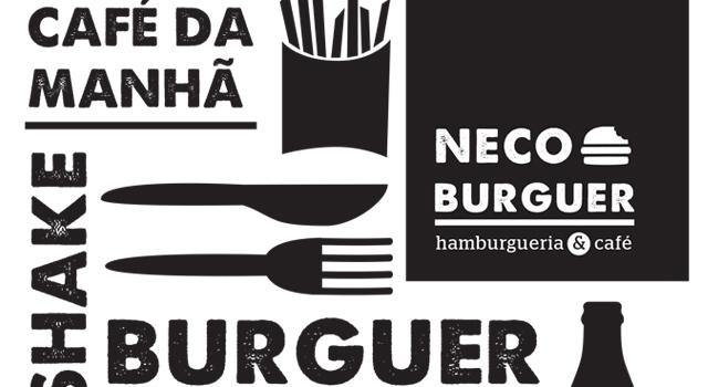 Criação de Marca e Comunicação <br /> Neco Burguer Hamburgueria &#038; Café